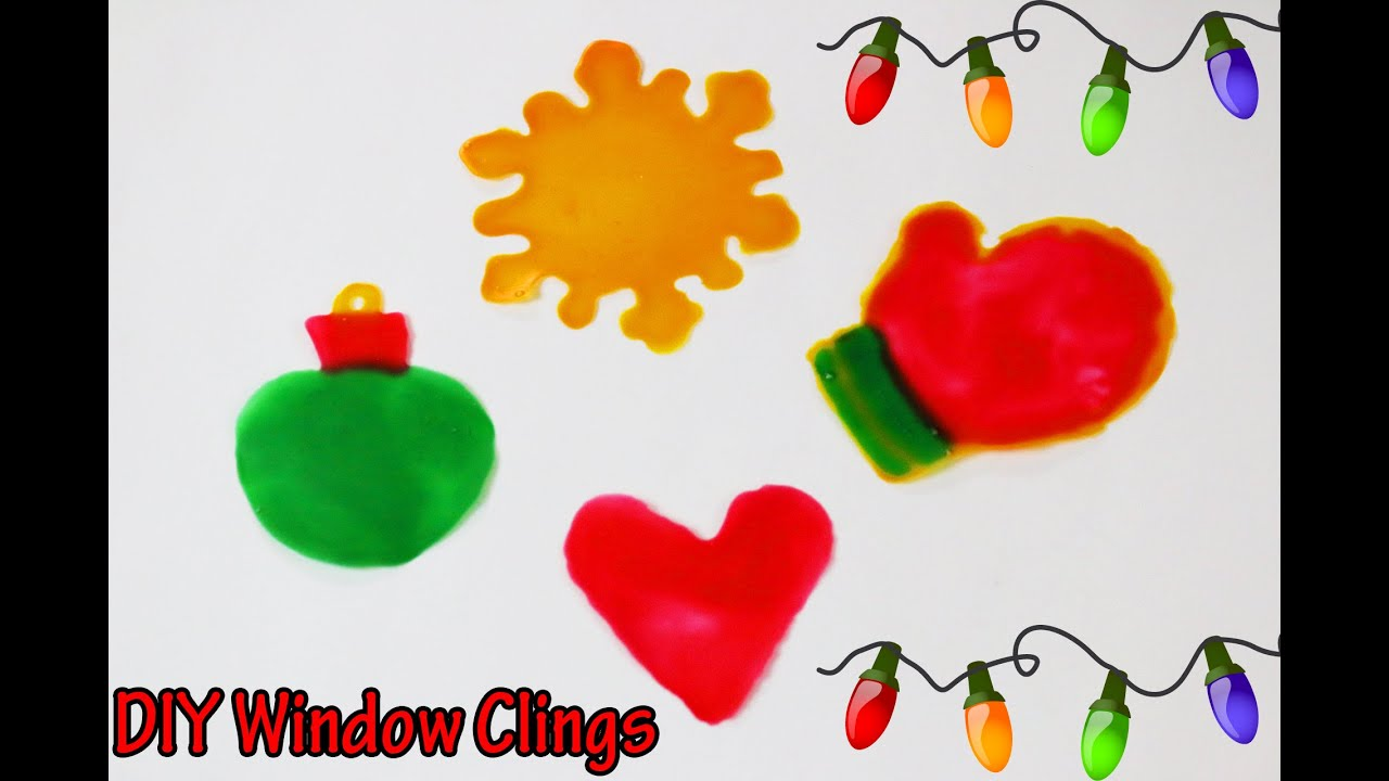 messy monday! diy window clings | how to make christmas window