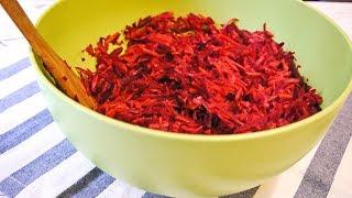 Самый Вкусный Постный Салат Из Сырой Свеклы с Морковью и Яблоком с Цитрусовой заправкой.