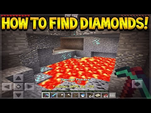 Minecraft Pocket Edition - 5 COOL TIPS TO FIND MORE DIAMONDS (Minecraft PE Tips)