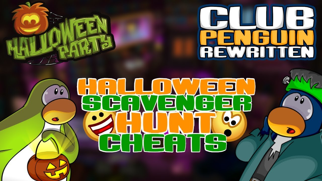 Halloween Party 2018 Candy Hunt Cheats Club Penguin Rewritten