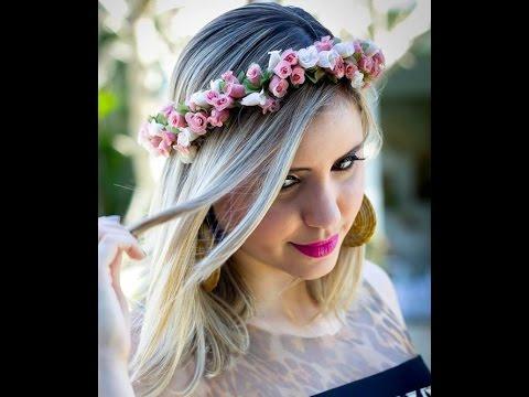 Como fazer uma coroa de flores por Dani Condeixa