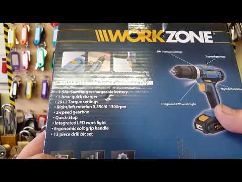 workzone cordless drill review.