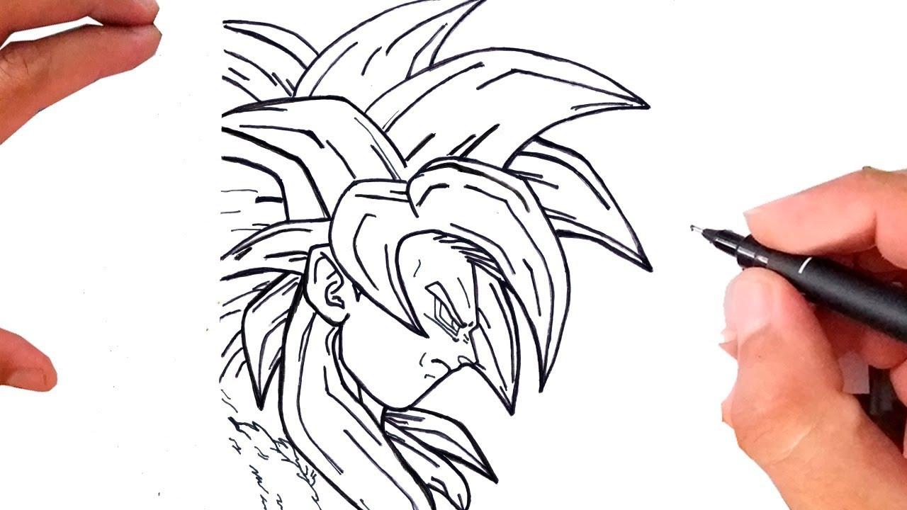 Como Desenhar Goku Super Saiyajin 4 Youtube