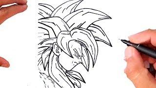 Como Desenhar GOKU SUPER SAIYAJIN 4