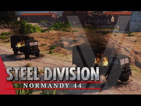 Remarkable Recon! Steel Division: Normandy 44 Beta Gameplay #20 (Colombelles, 1v1)