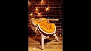 Деревянное кресло   РАКУШКА под пуф