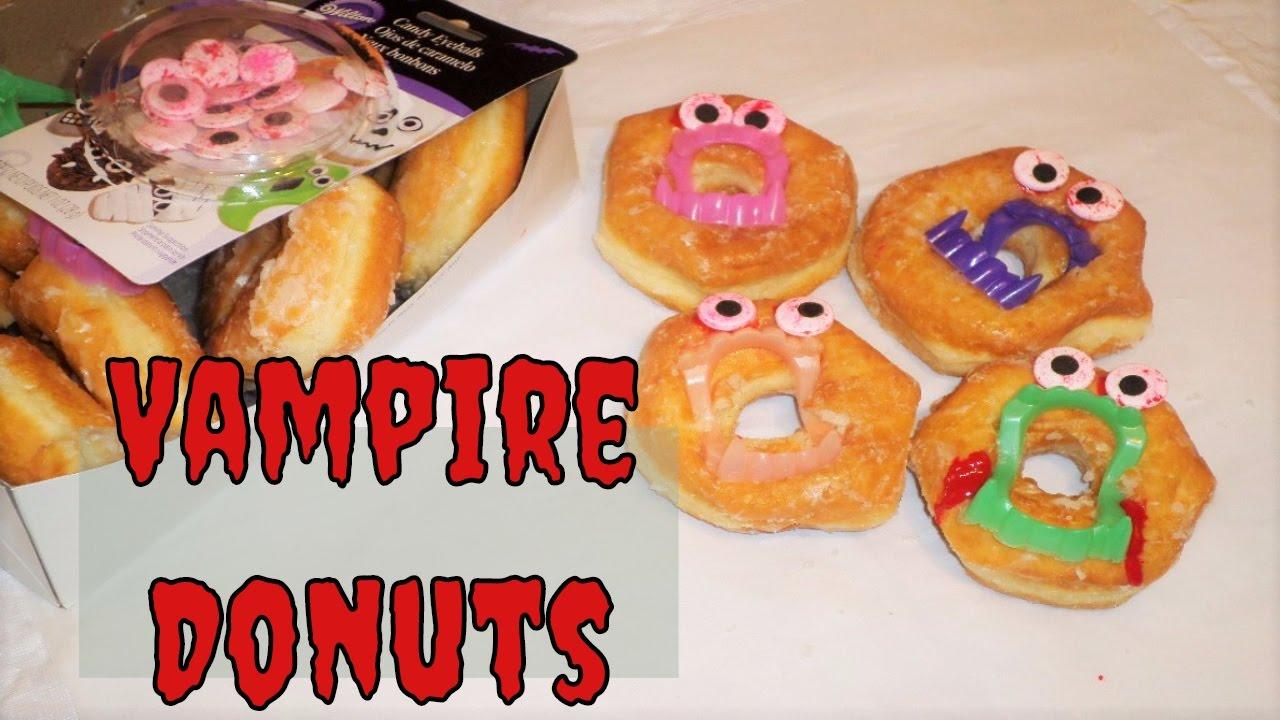 easy halloween party treats vampire donuts