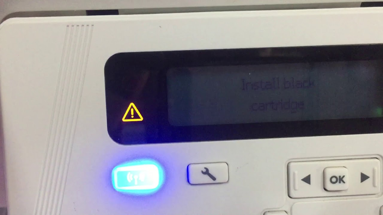 How to printer HP laser jet pro MFP M26nw fix Install black cartridges