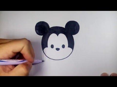 มิกกี้ เมาส์ ดิสนีย์ ซูมซูม Tsum Tsum วาดการ์ตูนกันเถอะ สอนวาดรูป การ์ตูน