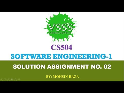 Solution Assignment No 2 Cs504 Software Engineering 1 Spring 2019 Virtual Student Support Services