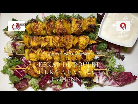 kebab-de-poulet-sauce-tikka-a-l'indienne-|comment-faire-du-poulet-sauce-tikka-a-l'indienne-en-30-min