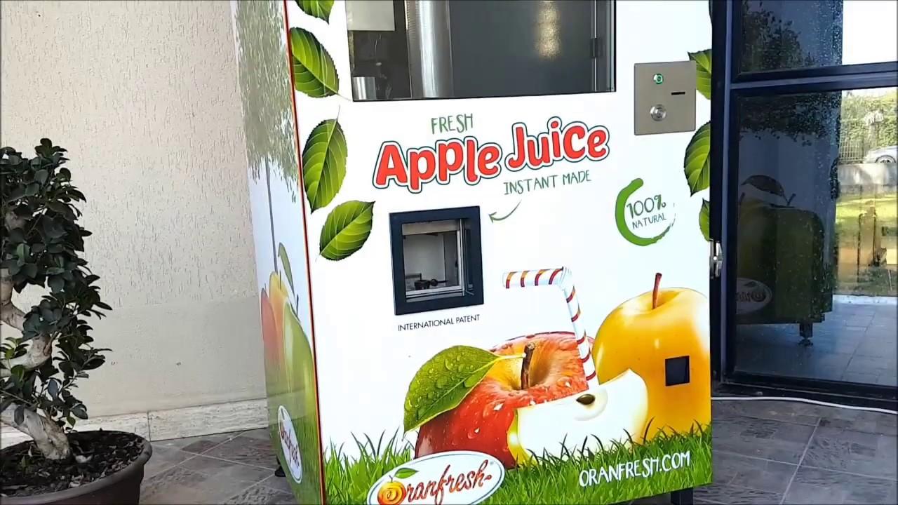 Oranfresh Or Apple Juice Vending Machine Patented Video Youtube