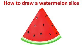 watermelon slice draw drawing melon water getdrawings