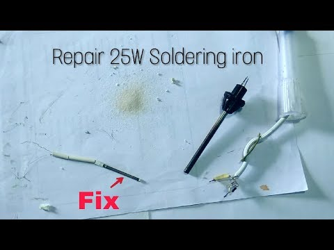 how to repair 25w soldering iron fix heating element youtube. Black Bedroom Furniture Sets. Home Design Ideas
