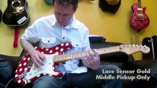 Stratocaster Red Polka Dot Buddy Guy Sig Fender Guitar: Pickups Lace Sensor vs CS Fat 50s