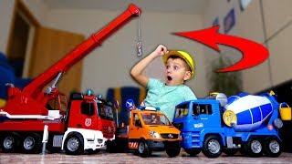 Фото с обложки Мечты Сбываются✨🚨🚒 Супер Команда Строительных Машин Super Team Construction Machines Bruder
