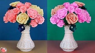 Paper Flower Pot || DIY Room Decoration || Handmade Things