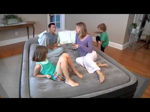 Queen Comfort Frame Airbed Kit Intex Airbed 66974 Youtube