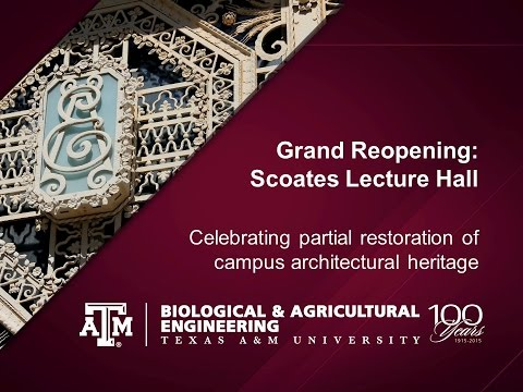 Grand Reopening: Scoates Lecture Hall