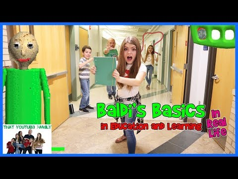 Back To School Baldi's Basics In Real Life (Kids Choice)  / That YouTub3 Family | Family Channel