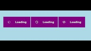 How to create loading buttons with html  and css