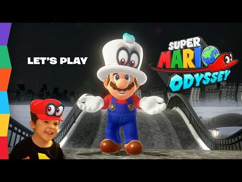 SUPER MARIO ODYSSEY Co-Op Mode! Daddy plays Cappy!