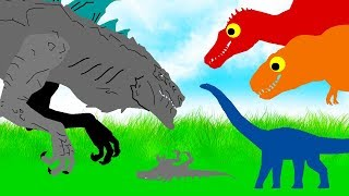 Diplodocus vs Zilla ( Godzilla 1998 ) Dinosaurs Cartoons Movie | Animated Dinosaurs new Compilation