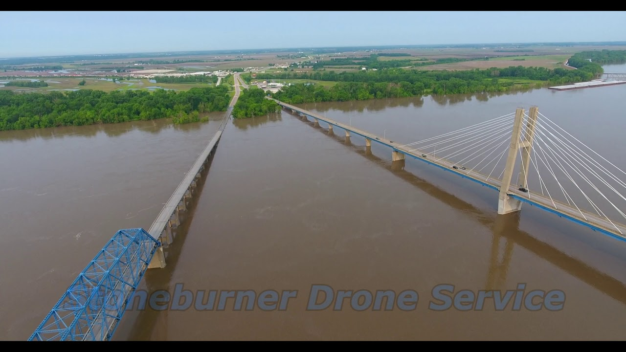 Bayview Bridge and Quincy Memorial Bridge during flooding 5/31/19