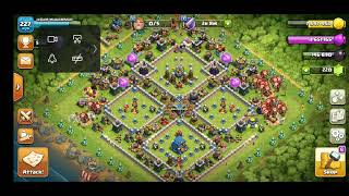 Clash Of Clans. TH9 easy farming with lavalloon troops (id: idham/Sinchan)