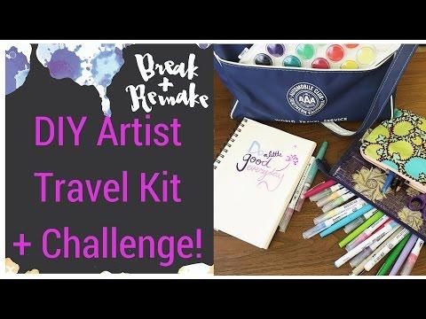 DIY Travel Art Kit + Artist Challenge!