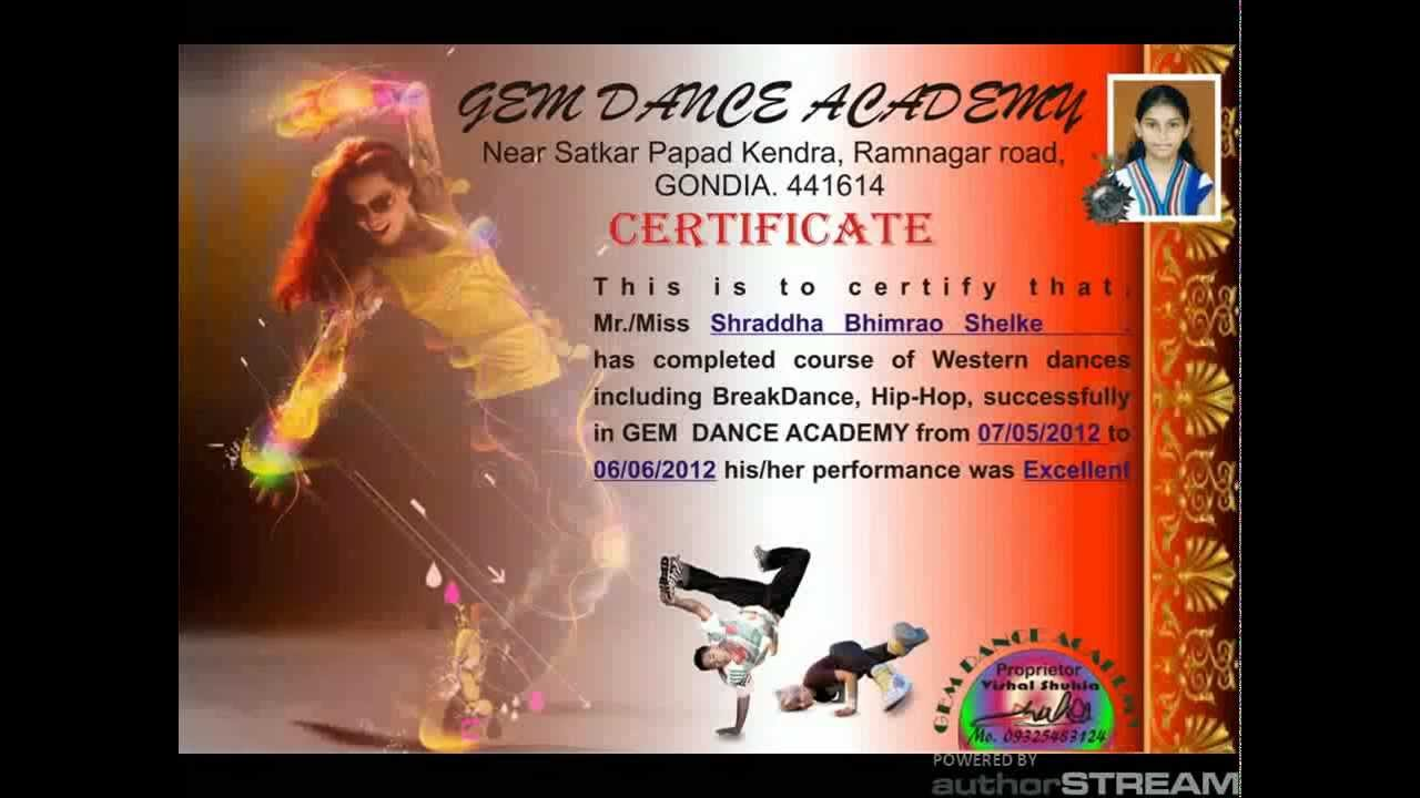 Issued certificate to students from gem dance academy youtube issued certificate to students from gem dance academy xflitez Choice Image