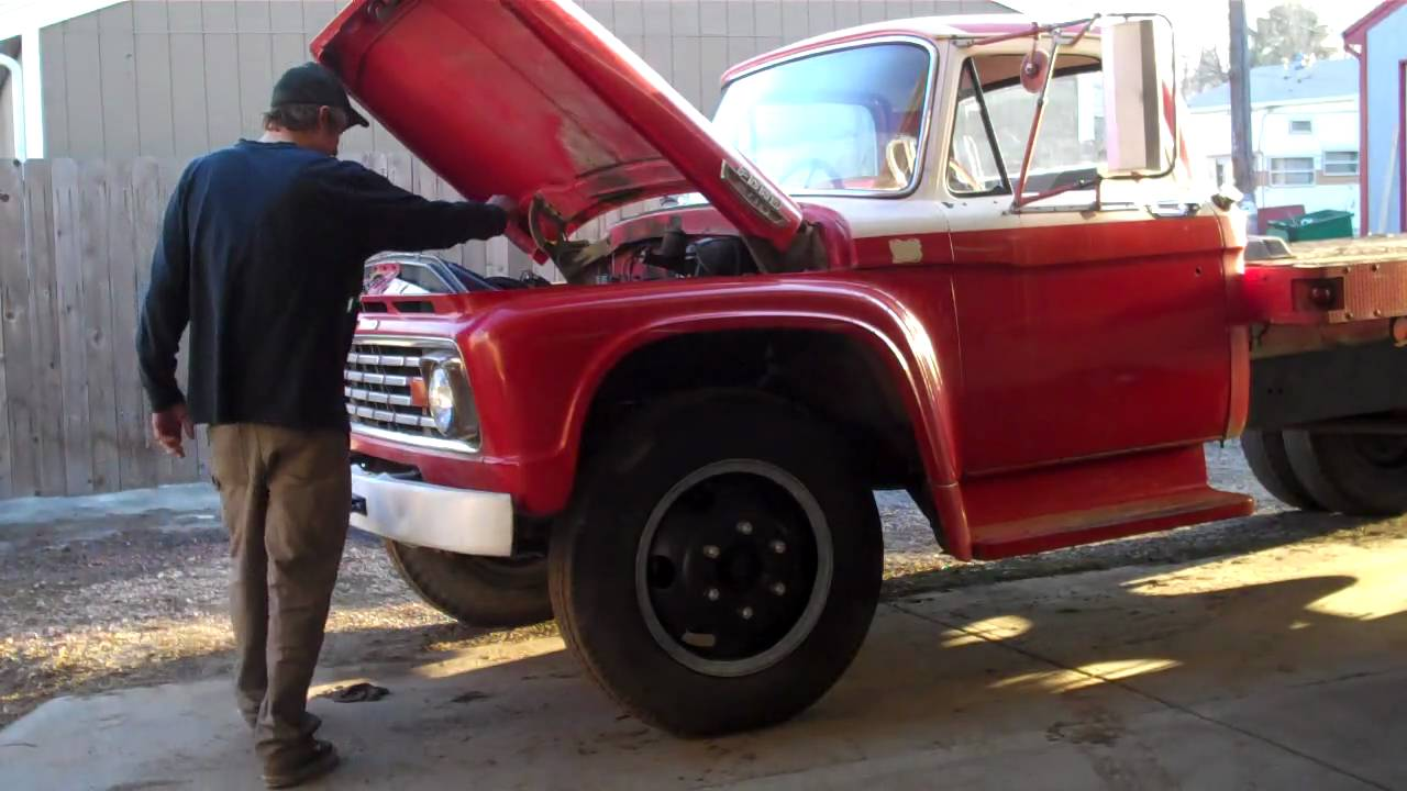 1963 Ford F600 Stake Bed Mp4 Youtube