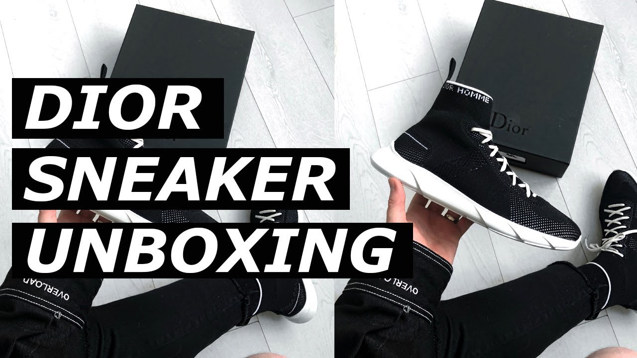 5237d12c825bfc $700 DIOR SNEAKER UNBOXING | High End, Luxury Sock Runner, Hypebeast ...