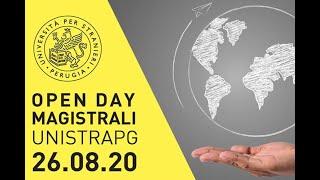 Open Day magistrali UNISTRAPG 26.08.20