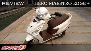 Hero Maestro Edge 125 Review | Hindi | MotorOctane