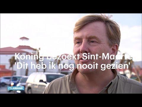 Koning bezoekt Sint-Maarten: 'Dit heb ik nog nooit gezien'  - RTL NIEUWS