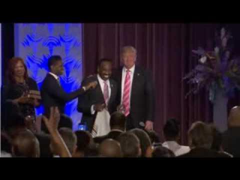 Black Church Pastor Puts Prayer Shawl on Donald Trump