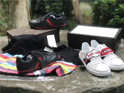 29377fe743b Gucci  New Ace  Black Leather Low Top Sneakers .HOW TO GET FREE GUCCI  SHIRTS