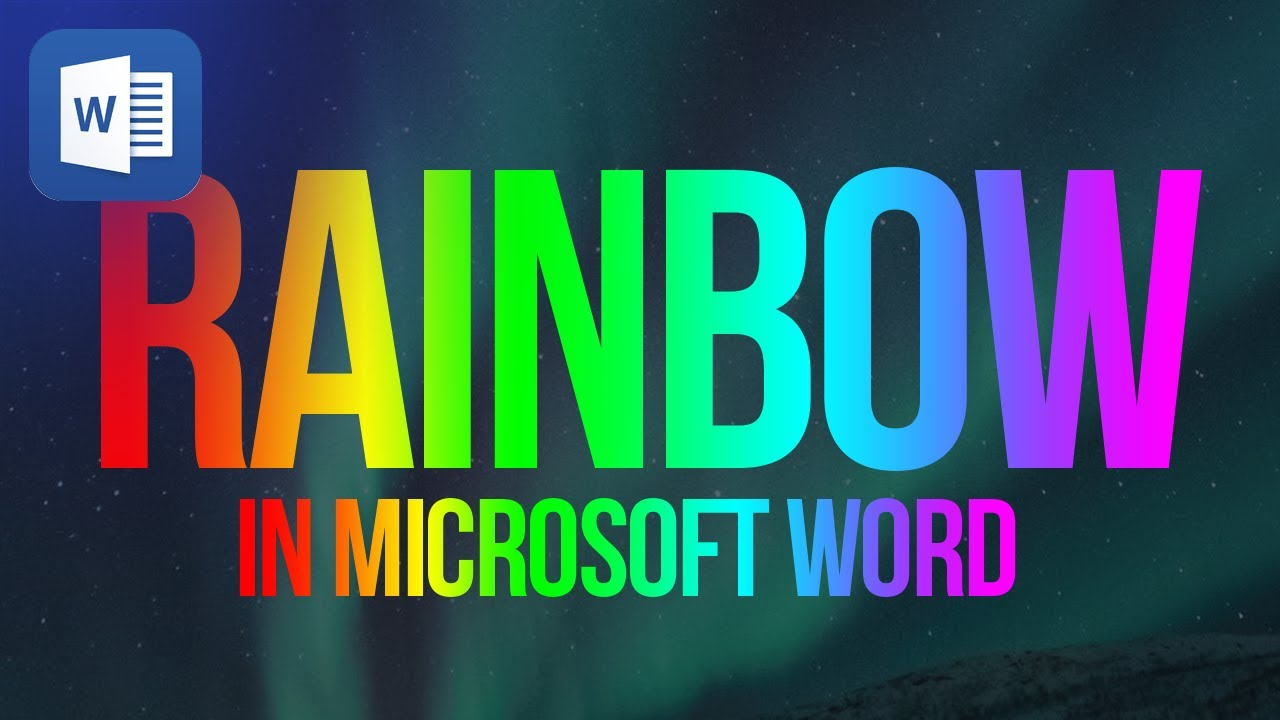 3116e1fe221b How to create a rainbow text in Microsoft Word 2013 - YouTube