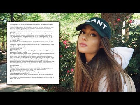 Ariana Grande Announces Manchester Benefit Concert & Shares Heartfelt Letter To Fans Mp3