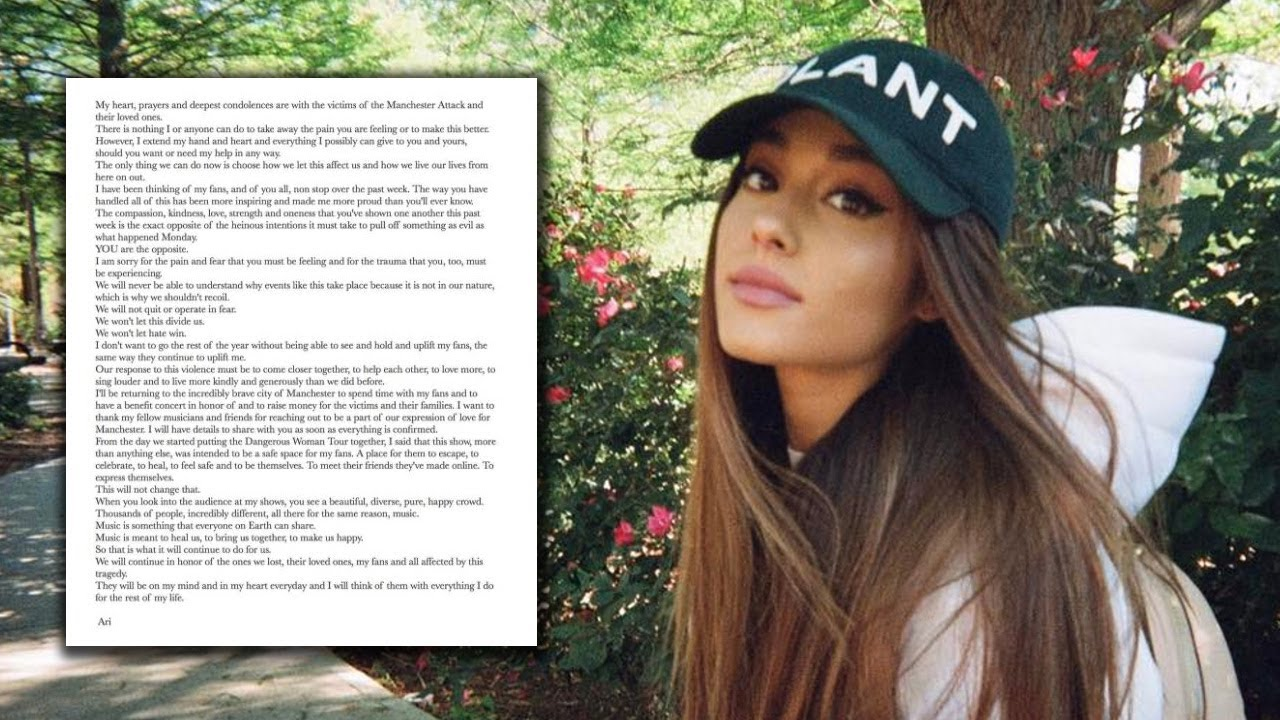 Ariana Grande Shared A Beautiful Message Thanking Fans For Their Support Since The Manchester Attack