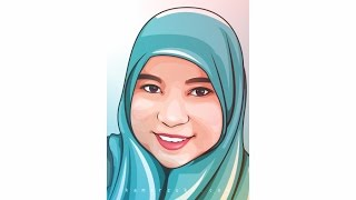 HOW TO DRAW VECTOR CARTOON IN CORELDRAW | HIJAB WOMAN (1)