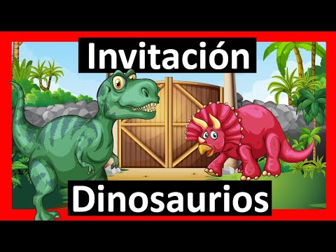 Video Invitación Dinosaurios Whatsapp Digital