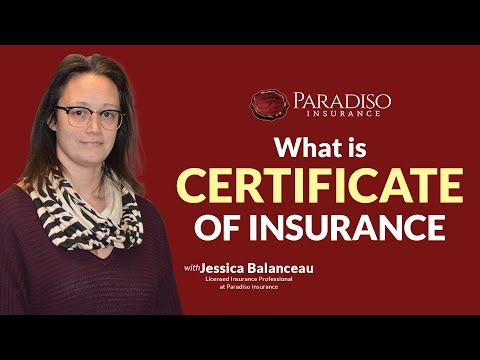 What Is A Certificate Of Insurance | Paradiso Insurance
