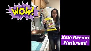 Delicious Keto Flatbread Recipe (Grilled Cheese) and God Story with Coach Cathy