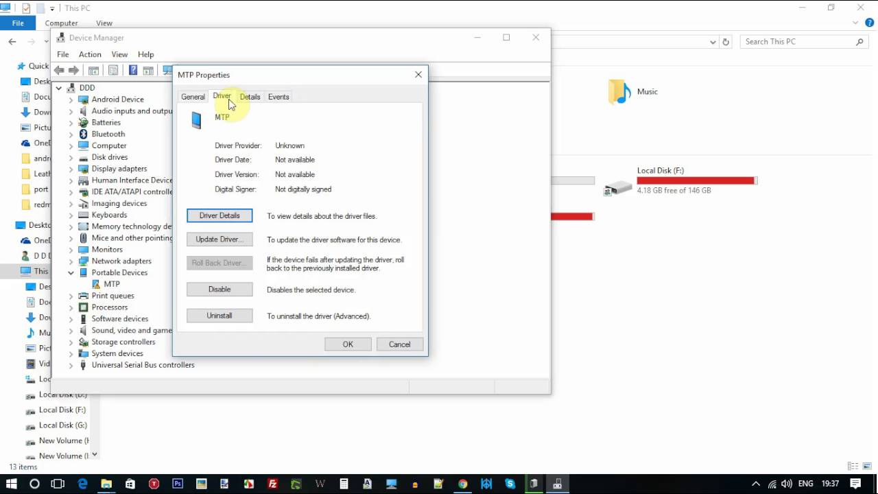 Fix PC computer not detecting China phone Android USB adb device