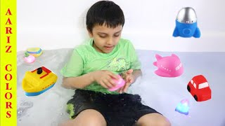 Bath song + learning toys | Pretend play nursery rhyme and kids songs | Bath toys learning video |
