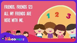 Friends, Friends 123 Song for Kids with Lyrics | Friendship Songs for Children | The Kiboomers