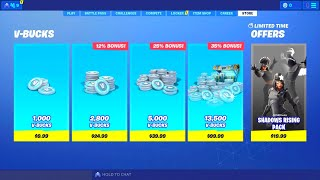 FORTNITE NEW SHADOWS RISING PACK! HOW TO GET NEW SHADOWS RISING PACK! NEW FORTNITE SHADOW SKINS