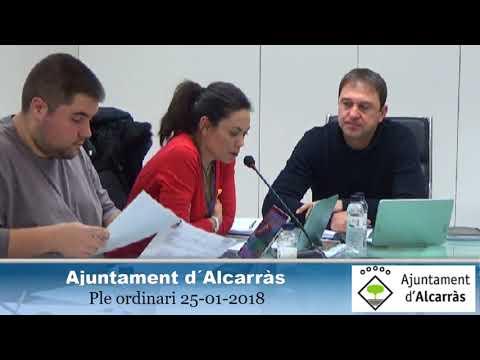 Ple Ordinari 25-01-2018 Ajuntament d´Alcarràs